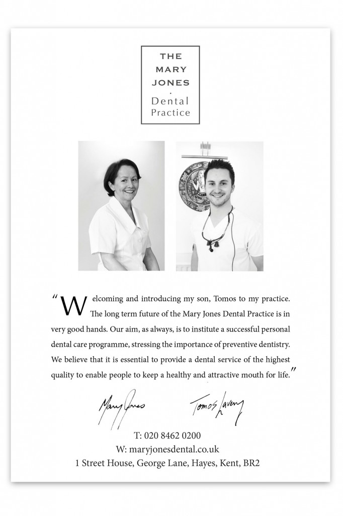 Dentist in Bromley Homepage Flyer - high quality